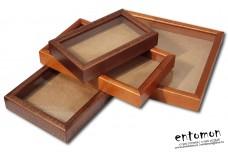 Качественные деревянные рамки со стеклом для изготовления сувениров